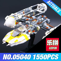 Lepin 05040 Star War Series Y Wing Attack Starfighter Building Assembled Block Brick Minifigure Toy Compatible