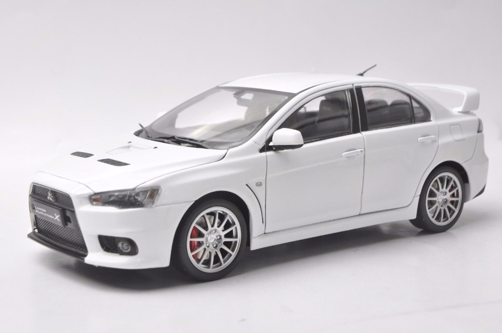 1:18 Diecast Model for Mitsubishi Lancer Evolution X 10 White Alloy Toy Car Miniature Collection Gifts EVO X braun 10b