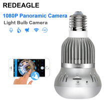 REDEAGLE WiFi Light Panoramic Bulb 1080P HD 360 Degree Fisheye Wireless IP Surveillance Video Camera Support Max 128GB Card