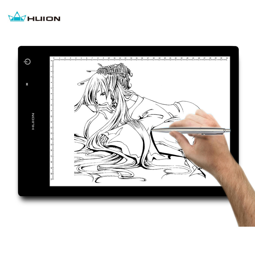 HUION WIRELESS 17.7 Inch LED Tracing Artcraft Tattoo Quilting Drawing Tracing Light Pad Light Box - LB4 huion huion н 420
