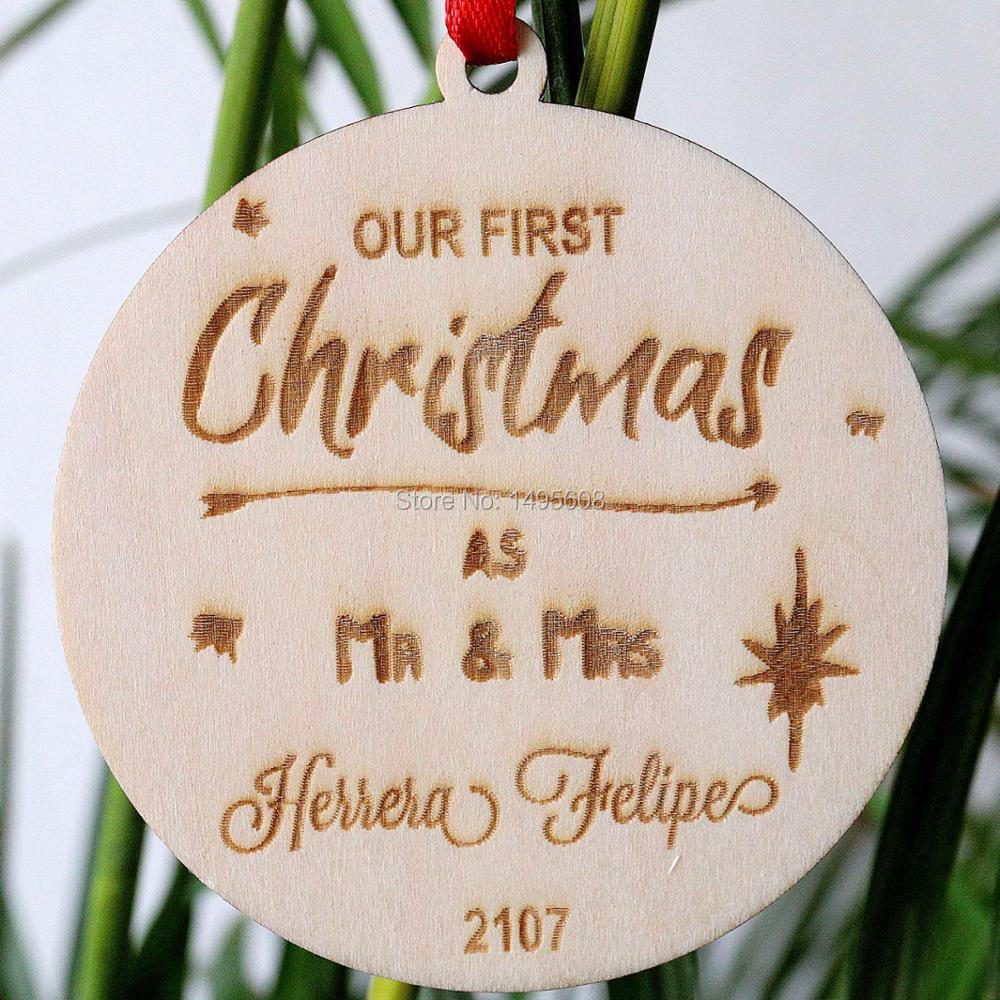 Our First Christmas Ornament Our First Year Newlywed ...