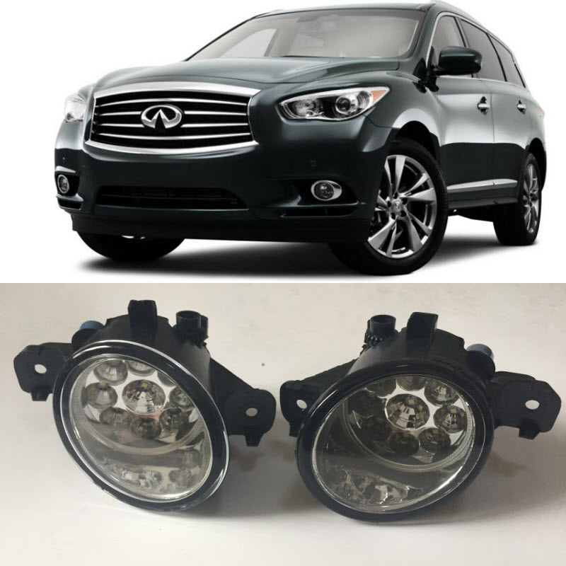 Car Styling For Infiniti JX35 2013 QX60 2014 2015 9-Pieces Leds Fog Lights H11 H8 12V 55W Halogen LED Fog Head Lamp