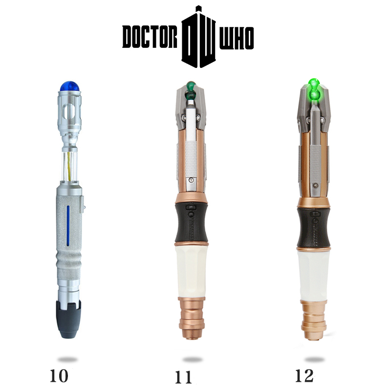 Anime Doctor Who 10 11 12 Generation Sonic Screwdriver - Peter Capaldi - With Lights And Sounds Christmas Gift Free shipping doctor who beautiful chaos