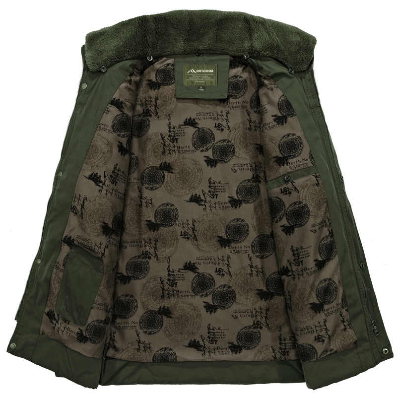 AFS ジープメンズ冬ジャケット軍事綿が詰め毛皮の襟の男性パーカーオムコーデュロイブランドパーカーやつ veste -オム