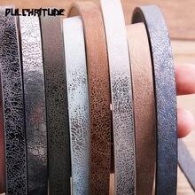 1 uds. De cuerda plana de cuero PU de 120x10mm, accesorios de joyería para manualidades, Material de moda para hacer joyas para pulsera P6885