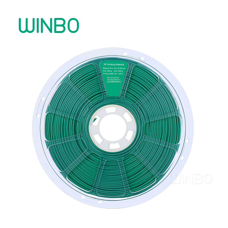 3D Printer PLA filament 3mm 3 kg  Green Winbo 3D plastic filament Eco-friendly Food grade 3D printing materials Free Shipping rq wooden 3d printer filament pla 1 75mm 3d wood printing materials 1kg plastic rubber consumables material