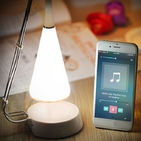 Home decor Bedroom LED Table Lamp with Mini Bluetooth Speaker USB Port Stepless Dimmable Touch Sensor Table Lamp