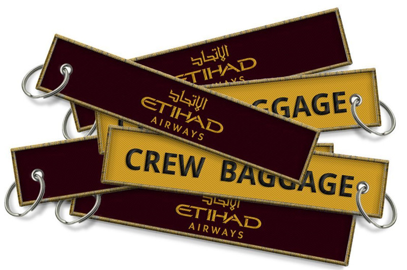 US $112 8 |Etihad Airways Crew Baggage Keyrings Personalized Promotional  Key Tags Fobs Wholesale China-in Key Rings from Automobiles & Motorcycles  on