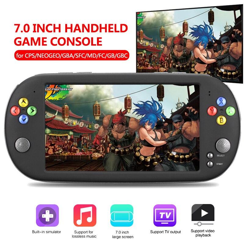 """7 """"scherm Draagbare Handheld Game Console 16 GB Video Game Console ingebouwde 999 klassieke games 16 bit Gamepad voor FC/GBC/CPS Game-in Draagbare gameconsoles van Consumentenelektronica op  Groep 1"""