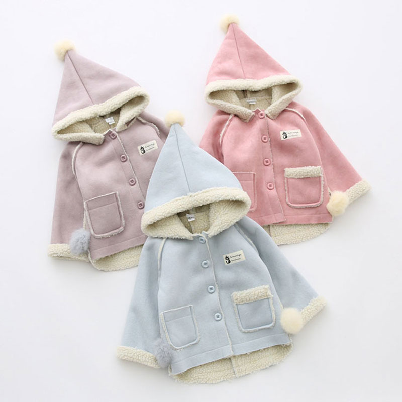 Newborns Baby Girl Hooded Jacket Warm Spring Clothing Outerwear Sport Girls Coats Childrens Clothing Toddler Cloth High Quality
