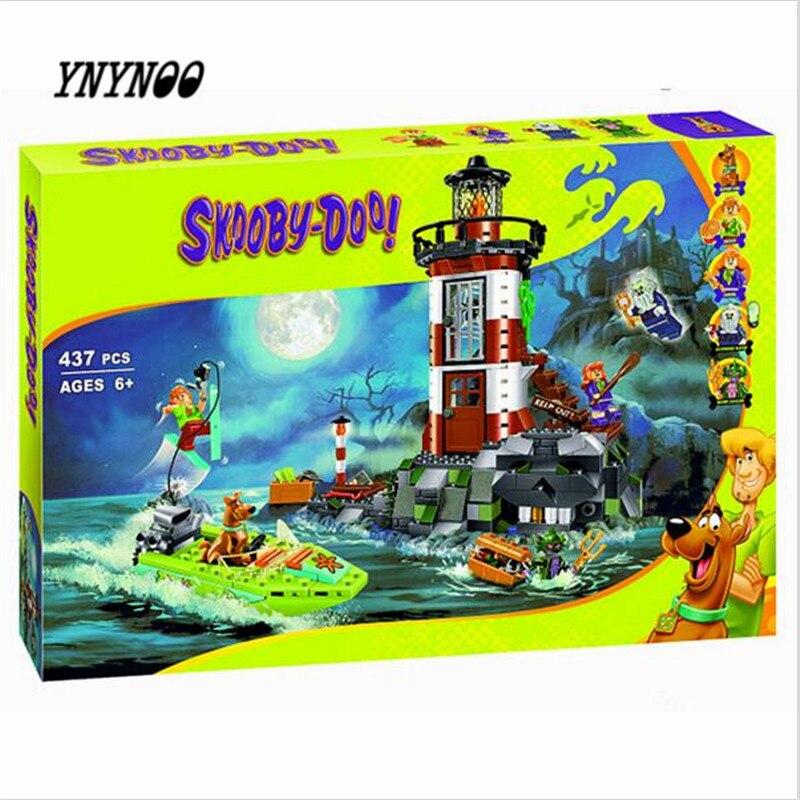 YNYNOO 2017 NEW Bela 10431 Haunted Lighthouse Scooby Doo Model Friends Bricks Blocks 3D Kids Toy Gifts  K474 ynynoo 437pcs bela 10431 haunted lighthouse scooby doo dog model friends bricks blocks 3d kids toy gifts p032