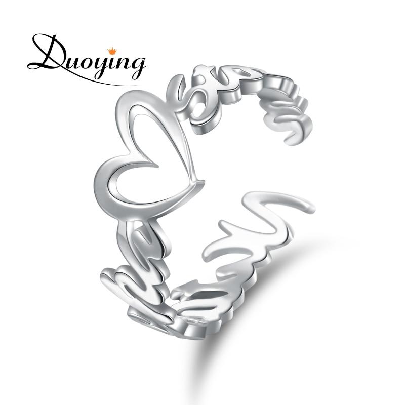 DUOYING Benutzerdefinierte Name Ring Personalisierte Gold Farbe Hochzeit Ringe Graviert Ihr Name Schmuck Initialen Offenen Ring Versorgung Für Etsy