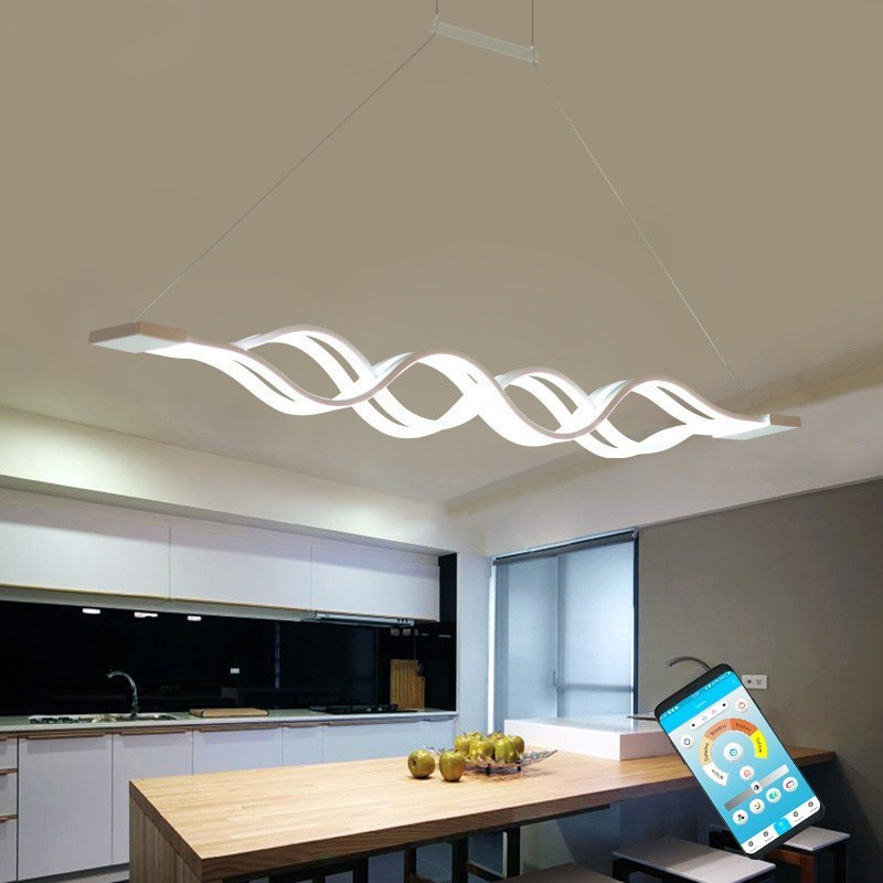 Modern Pendant Lights For Dining Living Room Kitchen Fixture Indoor Home Decor Suspension Luminaire With Remote