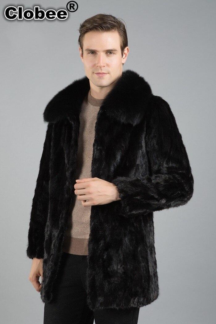 Outwear Uomini Faux Giacca Collare Turn 2018 Casual 3xl Pelliccia Pelle giù Autunno  Del X810 Di Sintetica Plus Nero Size Il Inverno Visone Cappotto q7ngw1EH a4fc31853e2