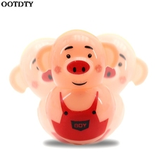 6pcs Cute Pig Tumbler Toy Party Bag Filler Favors Gift Kids Education Toy