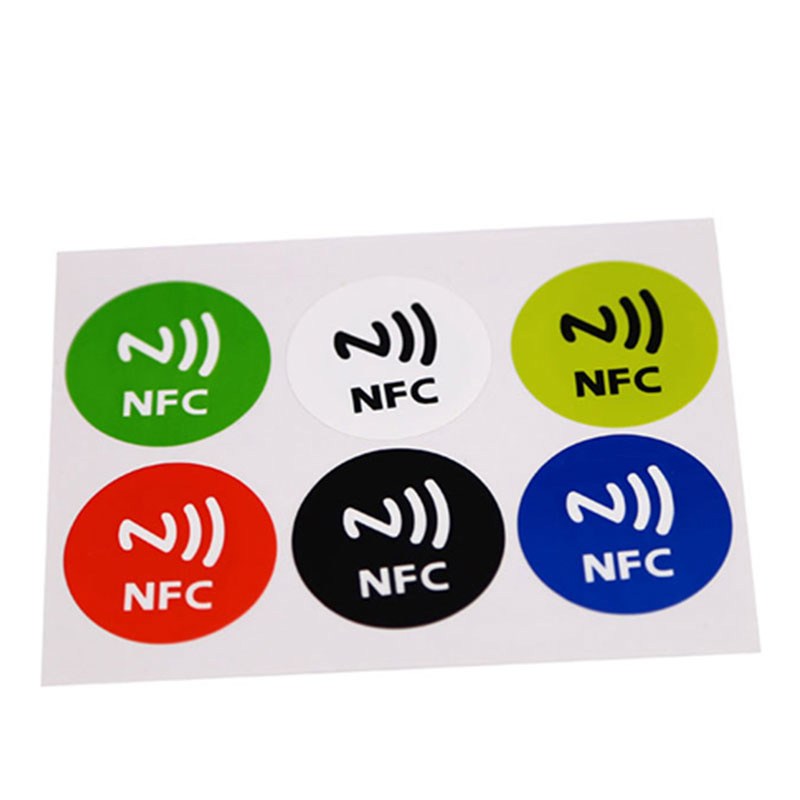 Mini Waterproof 6pcs Lot NDEF Ntag213 13.56mhz HF RFID Smart Card NFC Tags Rewritable NFC Chip Sticker Label Work With NFC Phone