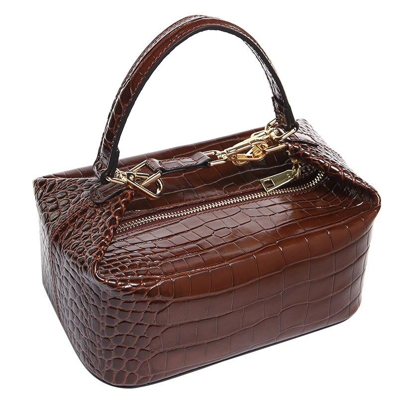 82355f762df Kopen Goedkoop Krokodil Patroon Box Bag Vrouwen Lederen Handtas Vintage  Designer Top handvat Lady Clut Purse Clutch Luxe Portemonnee Avondtasje P Y  Online