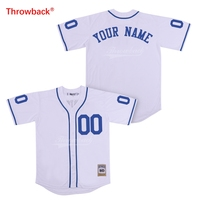 Throwback Jersey Men's The Sandlot Jersey Movie Baseball Jerseys Customized Shirt Any Name Number Colour White Free Shipping