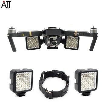 Night Flying LED Light Mount Buckle Holder Bracket Frame Kit For DJI Mavic Pro Platinum Drone Part