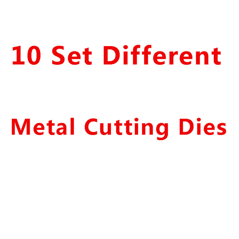 10 Sets Of Different Die Metal Cutting Dies Stencil For DIY Scrapbooking Album Embossing Paper Cards Deco Crafts Die Cuts