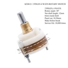 Przełącznik obrotowy dla DIY tłumik potencjometr selektor głośności Hifi Vintage wzmacniacz rurowy DIY 1PC