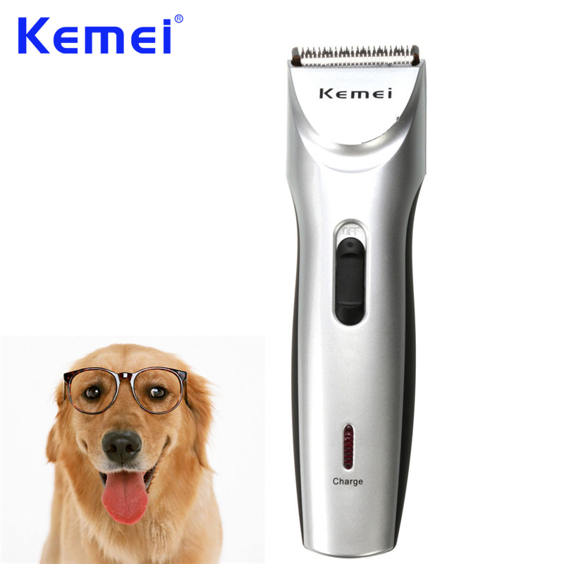 KEMEI Professional Low Noise Clipper Pets Dog Cat Animal Hair Trimmer Grooming Comb Kit Haircut Machine For Pets BT-110 professional 24w pet dog hair trimmer ceramic head clipper animal electric cat grooming hair cutter shaver razor w comb brush