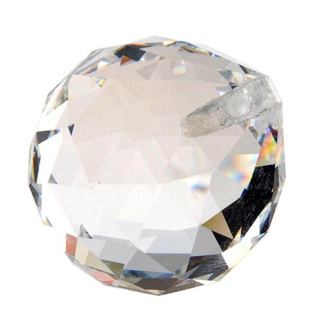 H & D ясно 40 мм стеклянные хрустальные призма люстра с ХРУСТАЛЬНЫМИ ЭЛЕМЕНТАМИ подвесной светильник шар Suncatcher Home Decor