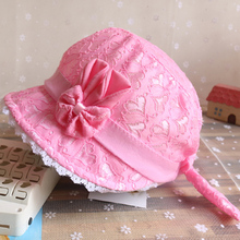 Cute Princess Lace Baby Bucket Hat With Bow