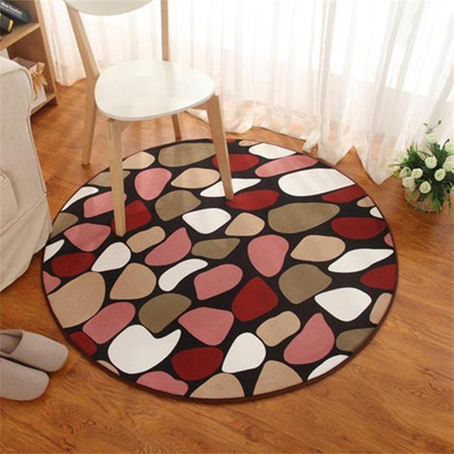 Korallen Samt Runde Teppiche Für Zuhause Wohnzimmer Computer Stuhl  Bodenmatte Kinder Spielen Zelt Bereich Teppich Garderobe
