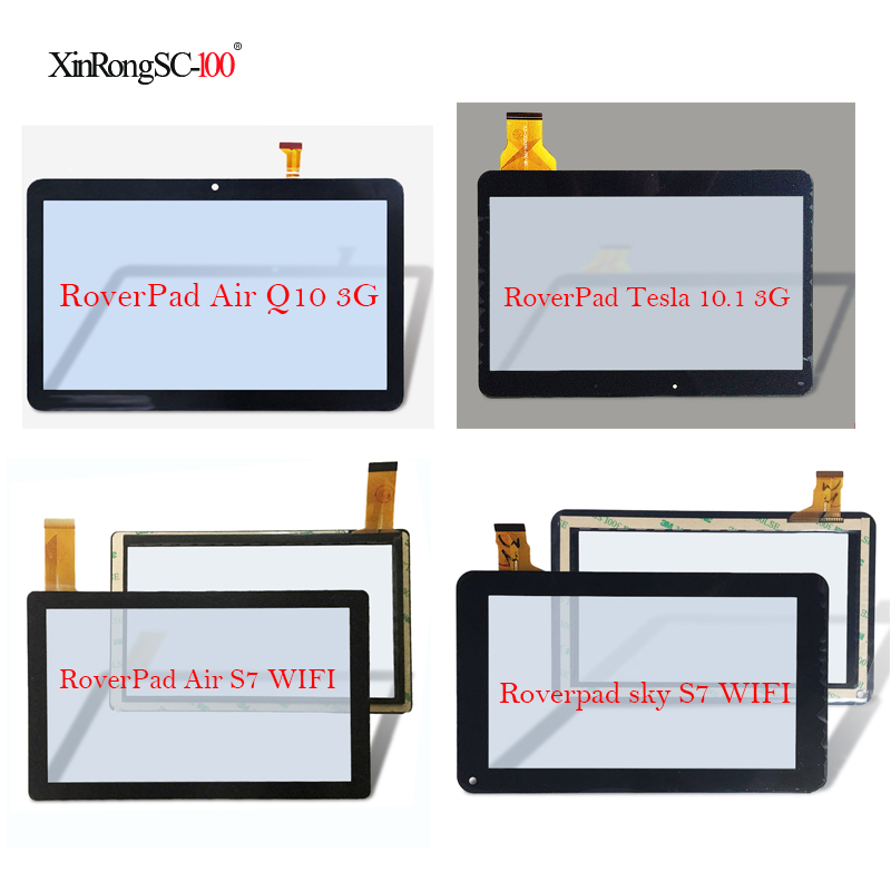 For RoverPad Tesla 10.1 3G/Air Q10 A1030/Sky Q8 8Gb/Air S7 WIFI/Sky S7 WIFI/Play S7/Air S8 Tablet touch screen panel Digitizer 10 1 inch lcd screen 1024 600 100% new for tesla magnet 10 1 3g roverpad air q10 3g display tablet pc lcd screen