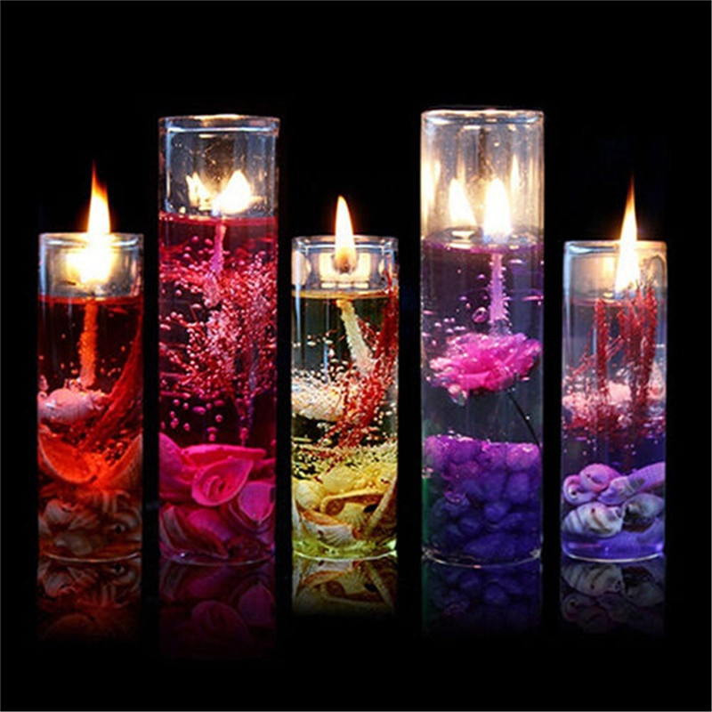 1pcs Yankee Candles Romantic Ocean Series Shiny Crystal Jelly Mousse Glass Cup Shells Wedding Birthday Party Decoration Candles