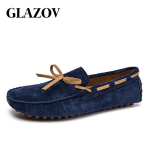 Image 4 - Designer Suede Leather Lace Up Men Casual Shoes High Quality Soft Mens Loafers Moccasins Italian Fashion Driving Shoes Big Size