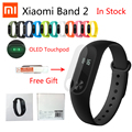 Novo original xiaomi mi banda 2 heart rate monitor de fitness rastreador pulseira bluetooth android 4.4 ios 7.0 touchpad screenbracelet