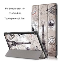 Tablet Case For Lenovo Tab4 10 Paint PU Leather Smart Case For Lenovo Tab 4 10