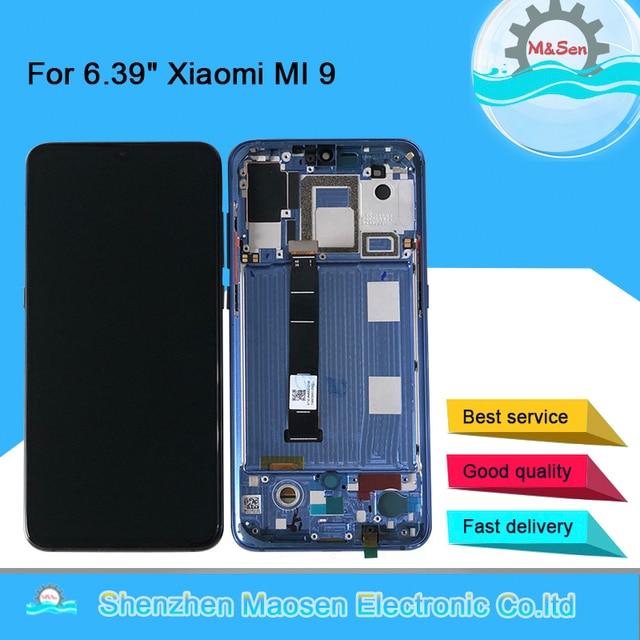 """6.39 """"oryginalna Supor Amoled M & Sen dla Xiao mi 9 Mi9 mi 9 ekran wyświetlacz LCD + Digitizer Panel dotykowy dla MI 9 Explorer wyświetlacz rama"""