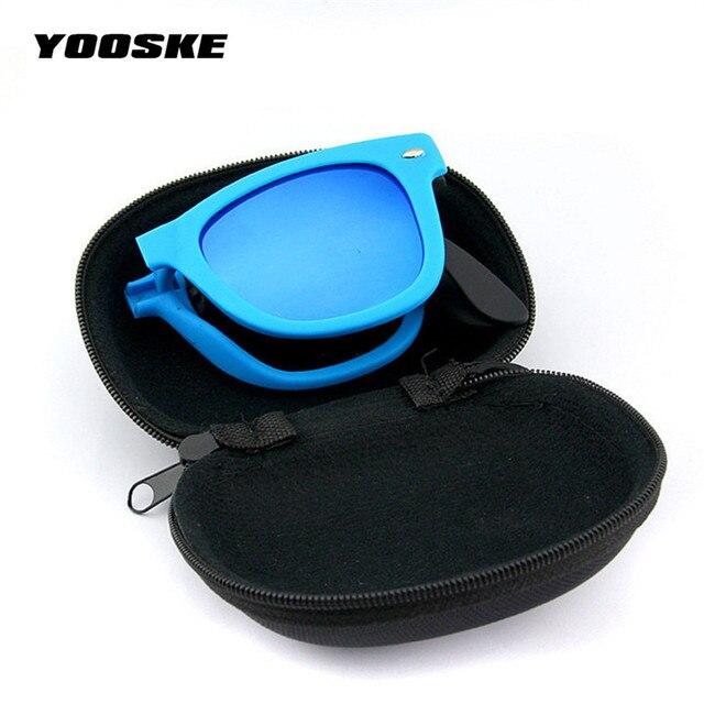 9cc27f9c63 YOOSKE lunettes de soleil pliables avec boîte d'origine lunettes pliantes  avec étui hommes femmes