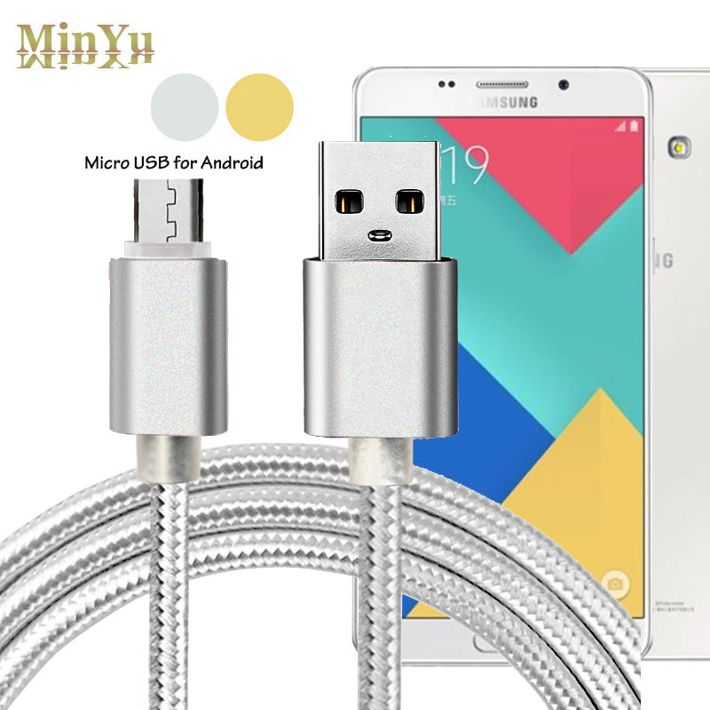 1M Nylon 5Pin Micro USB Data Sync & Charge Cable for Samsung Galaxy Tab S2 8.0 SM-T719 / S4 S3 S2 E7 E5 A7 <font><b>A5</b></font> <font><b>2016</b></font> Note <font><b>5</b></font> 4 2 image