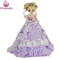 UCanaan/1/3 BJD куклы 24 дюймов мяч шарнирные куклы полный набор аксессуаров обувь волос одежда макияж SD куклы и игрушки для подарок для девочек