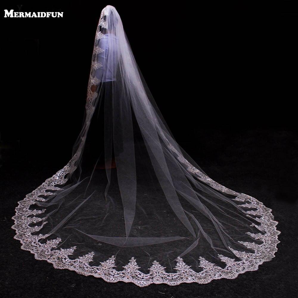 Voile cathédrale de mariage avec peigne ...