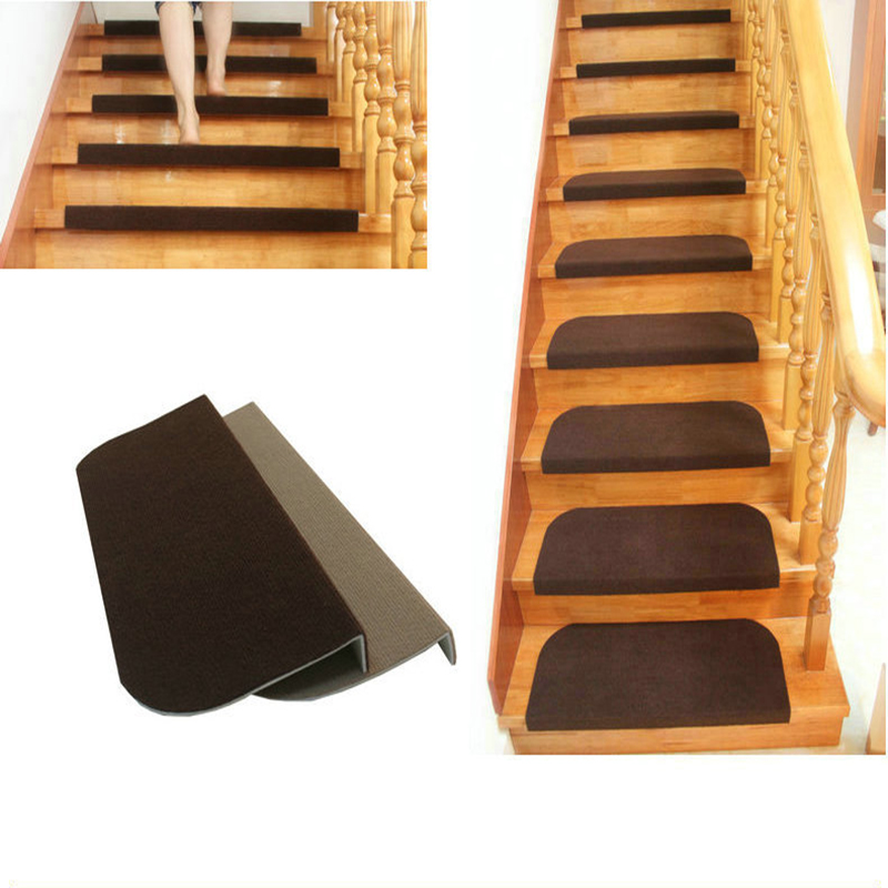 Modern Household Wearable Carpet Stair Tread Door Mats Non-slip Step Rugs PVC Right Angled Bend Anti-visual Fatigue 65*24 Cm Hot