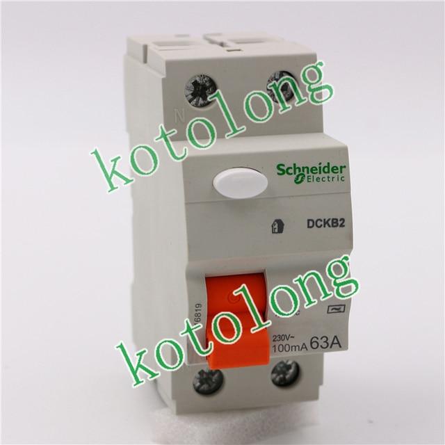 Schneider Domae RCCB 16819 DCKB2 2P 63A 100mA Type AC 2pcs/Box