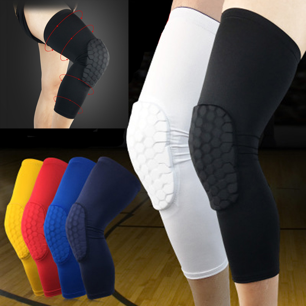 Knee Pads Sport Brace Protectors Breathable Anti-collision Basketball Leg Guards LFSPS0003