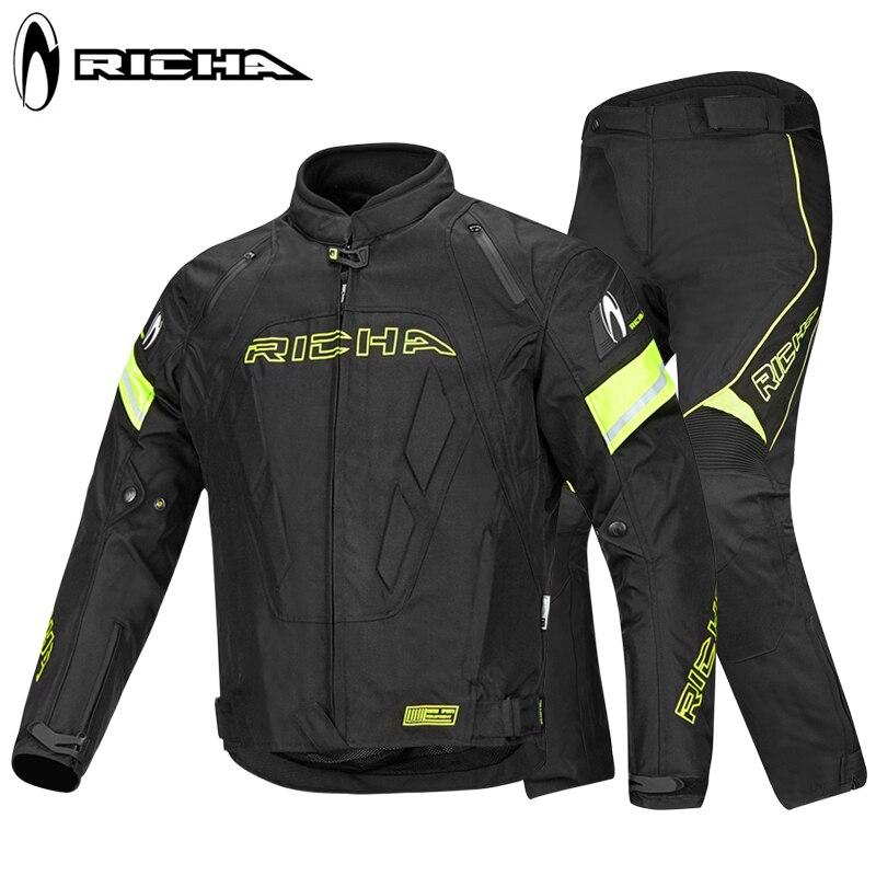 RICHA professionnel moto Motocross tout-terrain veste de course hiver chaud équitation costume imperméable protection équitation costume 147