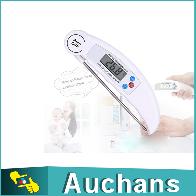 Superb Stainless Steel Probe Household Kitchen Thermometers Master Class Folding  Electronic Digital Food Cooking Thermometer