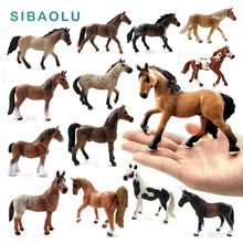 Simulation Horse Animal model plastic figurine home decor figure miniature fairy garden decoration accessories modern PVC statue