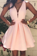 Women's Casual Sleeveless V-neck Party Dress