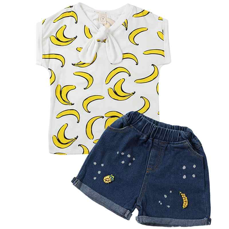 2019 Summer Baby Toddler Girl Clothes Tshirt+Skirts Kids Clothes Sports Suit For Girls 2 Piece Set Children Clothing 3 6 7 Years