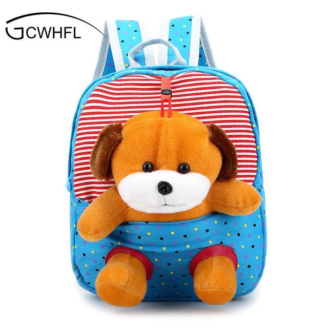 ff5fe390d4 Cartoon Bear Small School Backpacks Kids Baby School Bags Animal Monkey  Backpack For Girls Boys Kindergarten