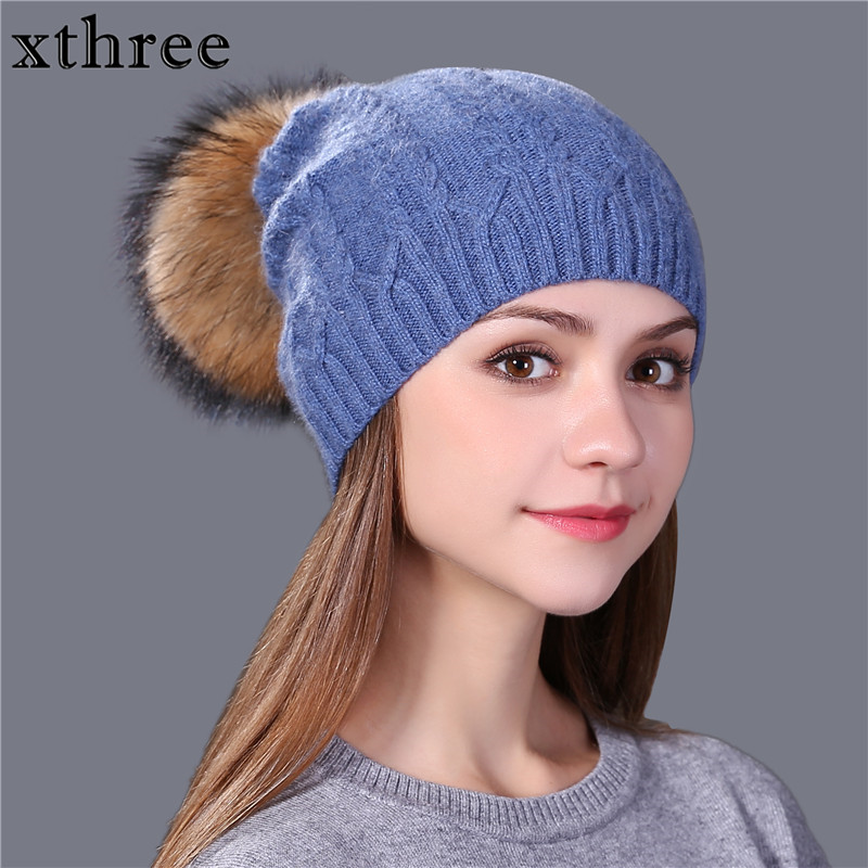 [Xthree] 2017 new winter knitted hat women warm wool beanie hat for girl real mink fur pom poms thick female wool cap brand industrial 650nm 150mw red laser module 650nm laser head with fan 12v ttl driver board