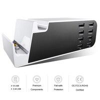Stoi pulpit Uniwersalny 8 Porty USB Ładowarka Micro USB Dock Cradle Ładowarka Stacja Szybka Ładowarka Dla iPhone iPad Samsung Telefonów